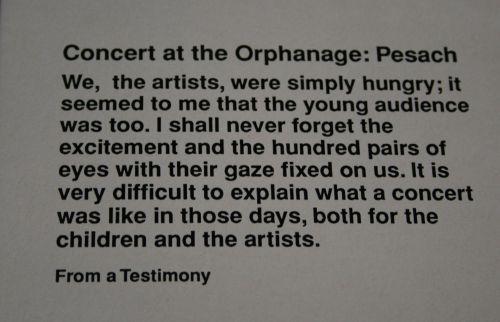 Korczak Orphanage Concert text
